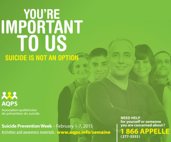 Suicide Prevention Week February 1-7, 2015